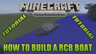 Minecraft Xbox Edition Tutorial How To Build A RCB Boat