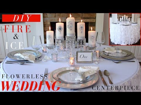 DIY Wedding Centerpiece | Dollar Tree DIY Wedding Decorations | Fire & Ice Winter Wonderland Decor