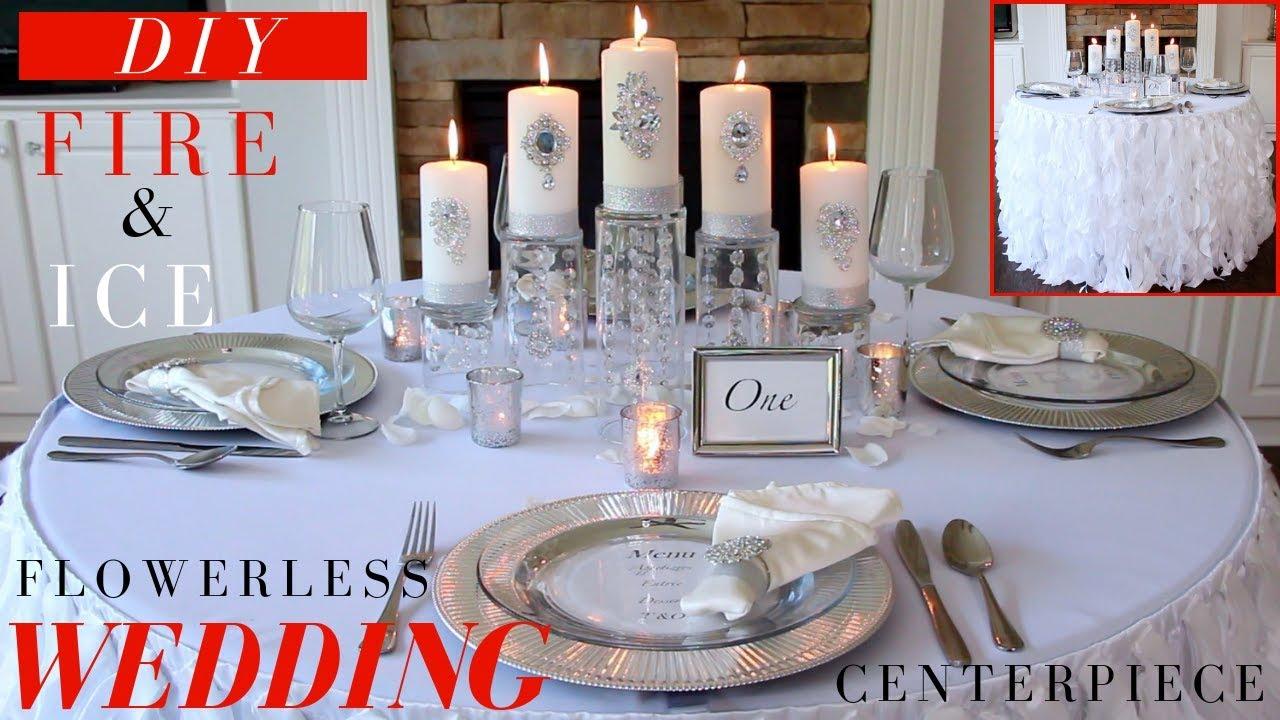 Flowerless Wedding Centerpiece Diy Wedding Decoration Ideas Fire