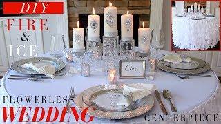 Flowerless Wedding Centerpiece   DIY Wedding Decoration Ideas   Fire & Ice Winter Wonderland