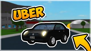 I BECAME A UBER DRIVER FOR A DAY! | Roblox Bloxburg
