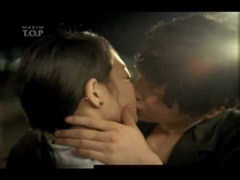 60s CF longer Kiss! Won Bin & Shin Minah 4th CF 60s  Maxim T.O.P.