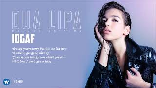 Download Dua Lipa - IDGAF - Official Audio Release MP3 song and Music Video