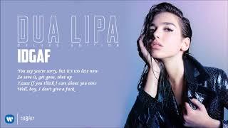 Dua Lipa Idgaf Official Music Audio