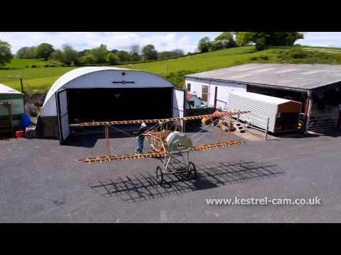Bristol Scout WW1 Fighter Aircraft Rebuild Aerial Video