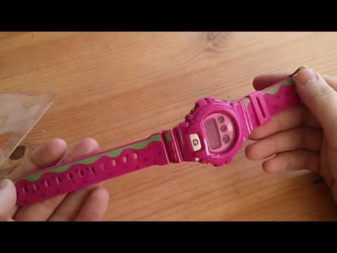 Grail unboxing. GShock Casio pegleg watermelon DW6900-FS  HD