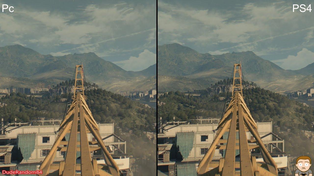 Dying Light PS4 Vs Pc Graphics parison 2