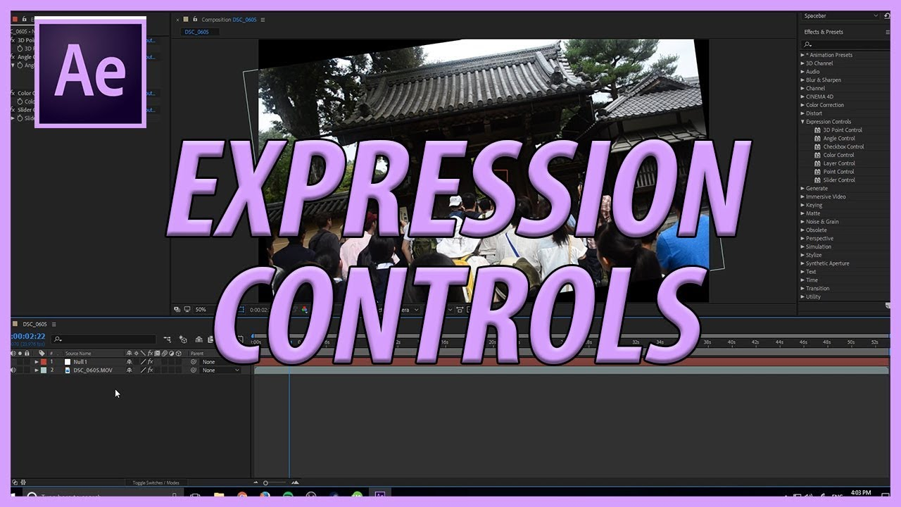 How to Use Expression Controls in Adobe After Effects CC 2018