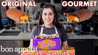 Pastry Chef Attempts to Make Gourmet Twix | Gourmet Makes | Bon Apptit