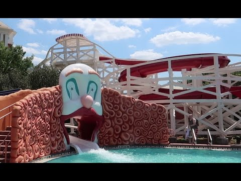 Boys Day Out At Disney's Boardwalk | Shops, Restaurants & The Scariest Water Slide At Disney