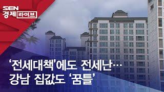 '전세대책'에도 전세난…강남 집값도 '꿈틀'