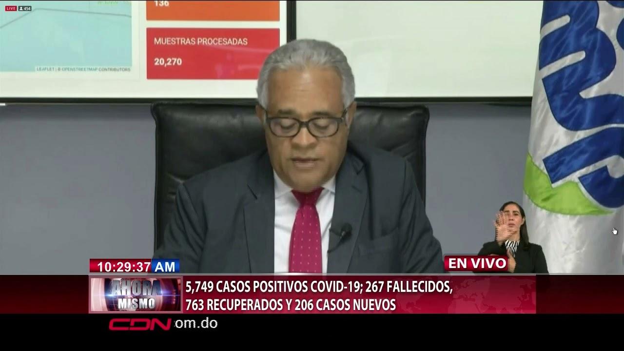 Coronavirus en República Dominicana: 5,749 casos positivos y 267 muertos