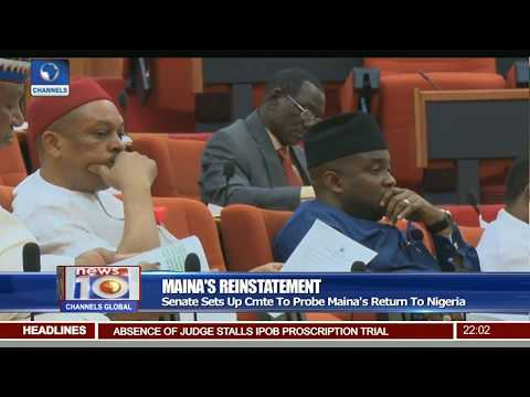 Senate Sets Up Committee To Probe Maina's Return To Nigeria Pt.1 |News@10| 24/10/17