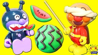 アンパンマン おもちゃ スイカ割りにバーベキュー!夏休み楽しいな ねんど たまご 虫 カブトムシ 料理 ままごとトントン たまごMammy thumbnail