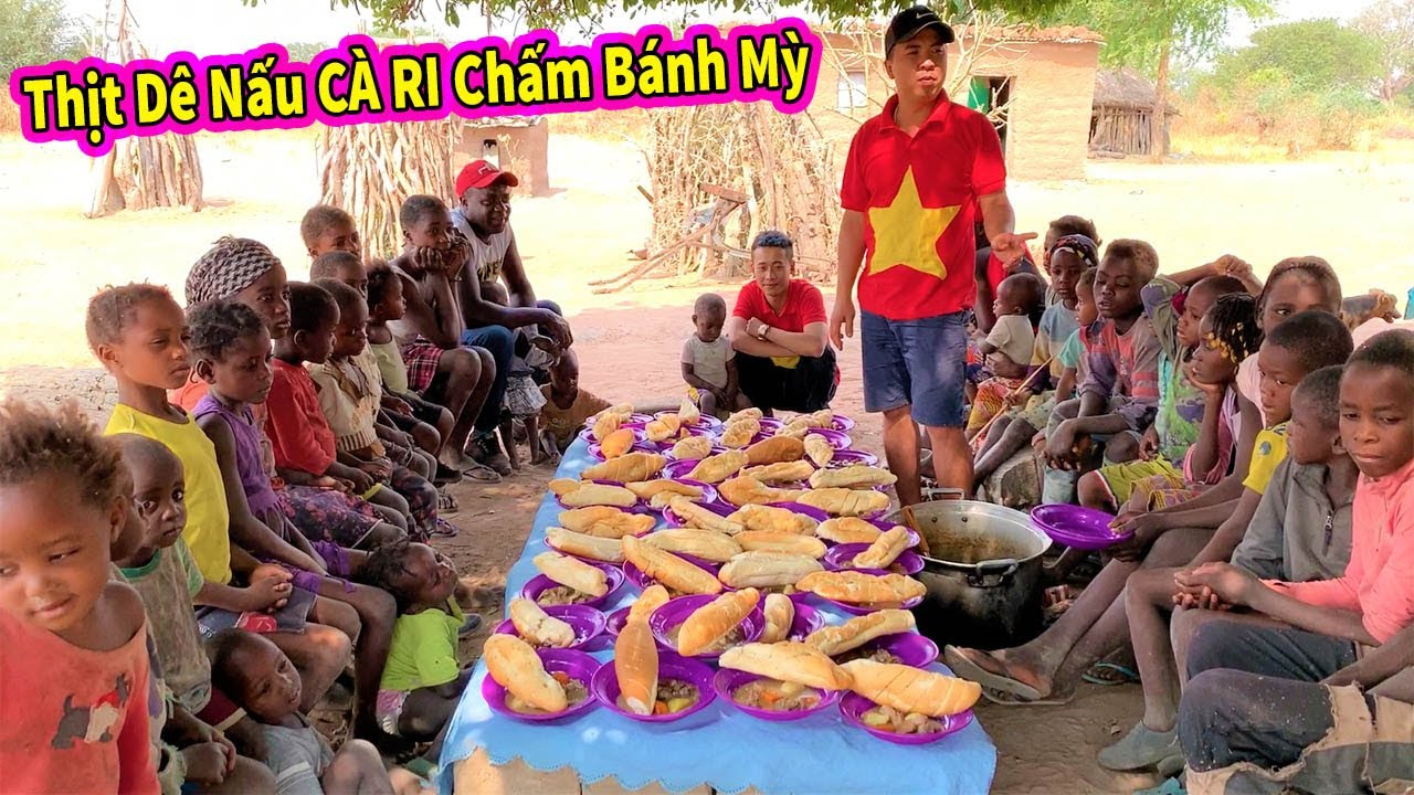 Ẩm Thực Châu Phi || Cùng Người Dân Ăn Thử Thịt Dê Nấu Sốt Cari Chấm Bánh Mỳ Siêu Ngon