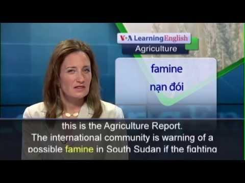 Phát âm chuẩn cùng VOA - Anh ngữ đặc biệt: South Sudan Famine (VOA-Ag)