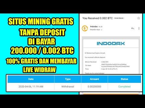 MINING GRATIS TANPA DEPOSIT TETAP MEMBAYAR PENGHASIL BTC GRATIS DAPAT RP. 200.000 / 0.002 BTC - 동영상