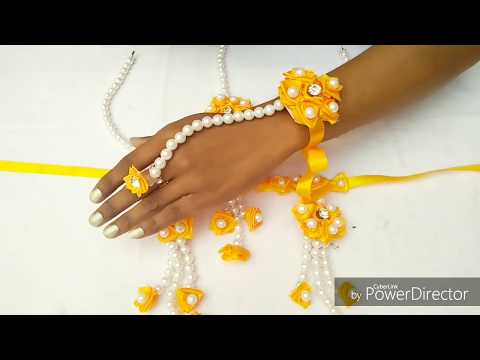 HOW TO MAKE HANDMADE JEWELLERY FOR HALDI CEREMONY | BEAUTIFUL AND ECONOMIC FANCY JEWELLERY FOR BRIDE