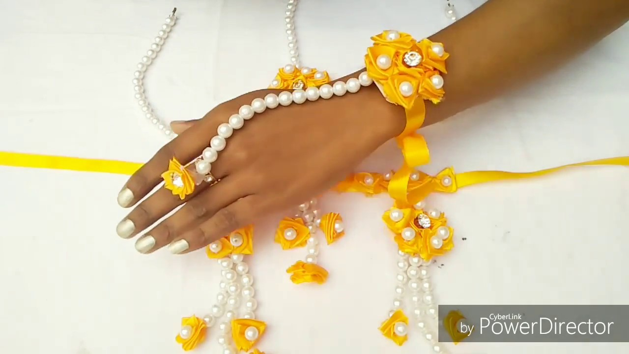 How To Make Handmade Jewellery For Haldi Ceremony Beautiful And