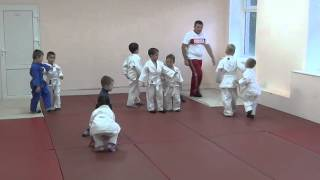 1.11.15 Открытый урок по дзюдо. Учителя и Ученики. Малыши 3 - 4 года. Centre Judo Kids. Feodosiya