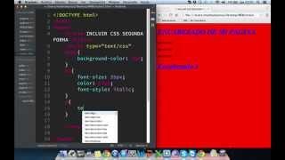 Incluir css con html