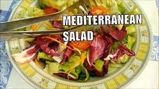 SALAD RECIPES MIXED MEDITERRANEAN SALAD/ Insalata mista mediterranea #italianfood