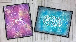 Christmas cards with CE dies & embossingfolder & Distress ...