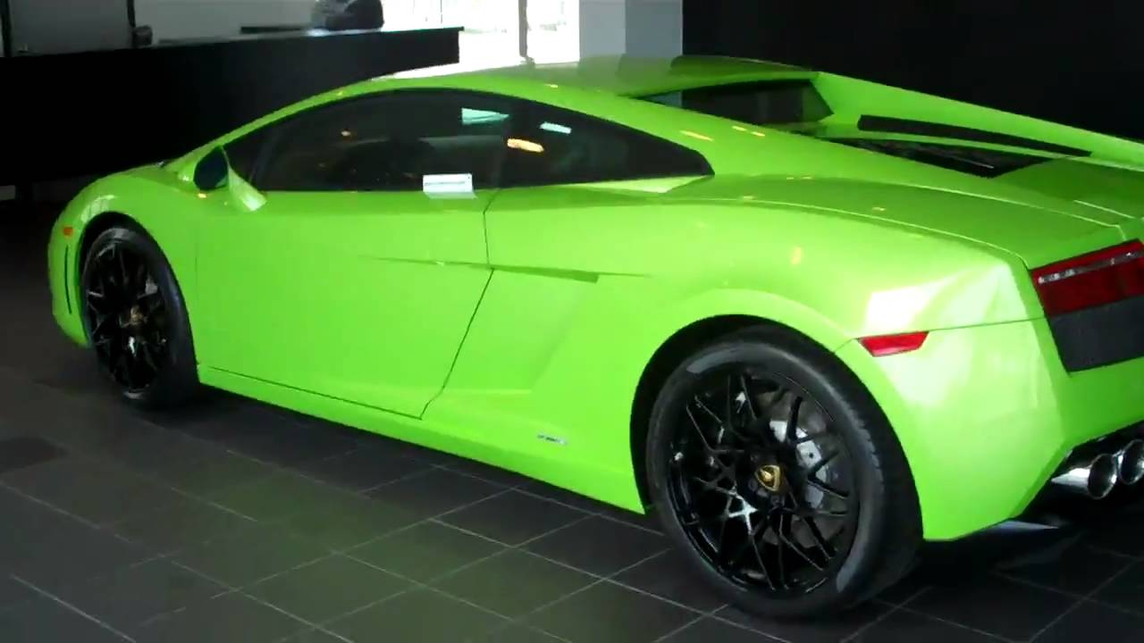 Superb Green Lamborghini Gallardo LP560 4   YouTube