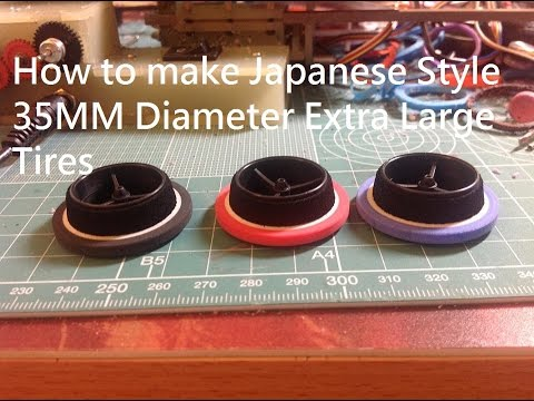Tamiya Mini 4wd How to make Japanese 35MM diameter Extra Large tall Tires