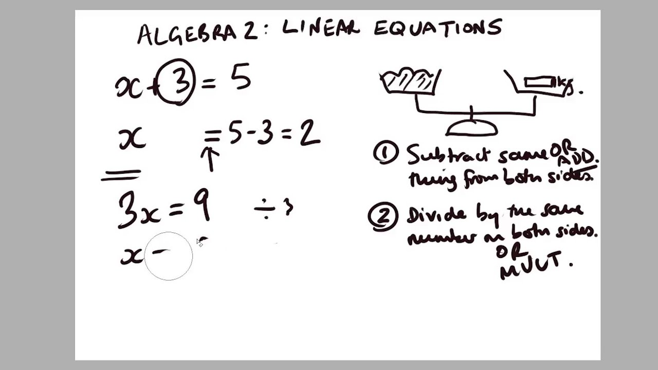 MATHS IN GAMES] Algebra 2 - Linear Equations - YouTube