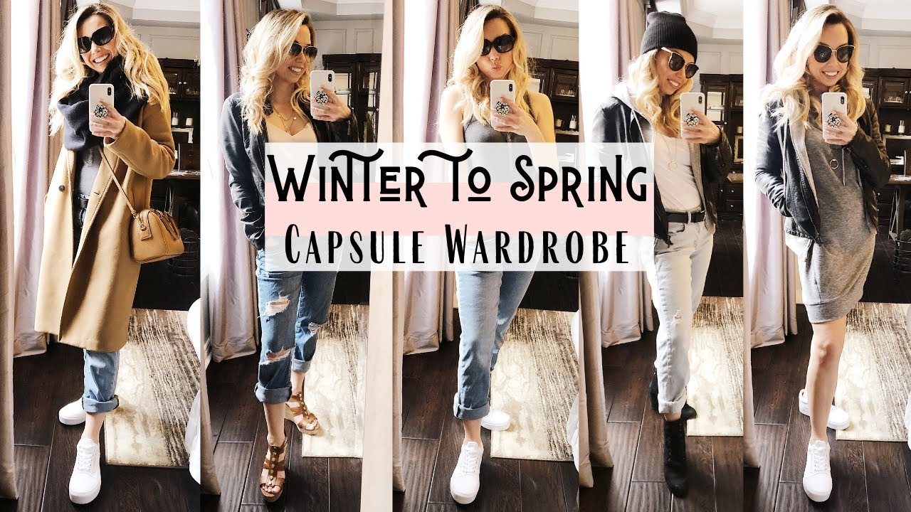 Winter to Spring Outfits 27  Capsule Wardrobe