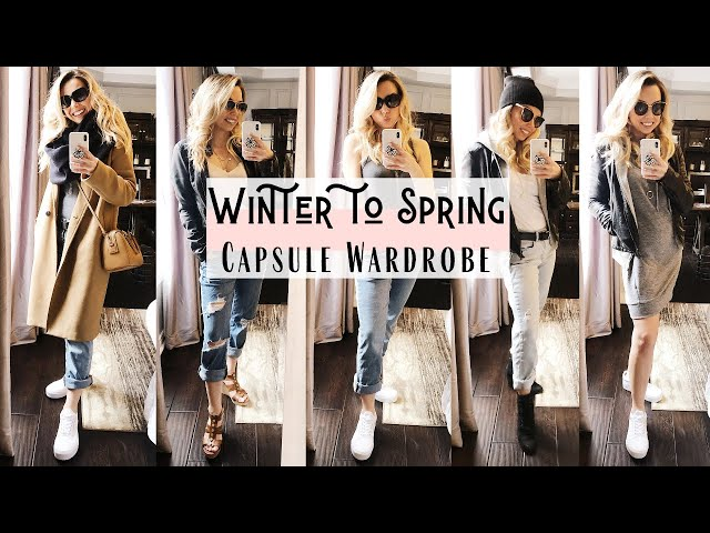 Winter to Spring Outfits 2020 | Capsule Wardrobe