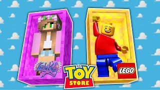 LEGO MAN IS IN AN ACCIDENT! Minecraft Toystore