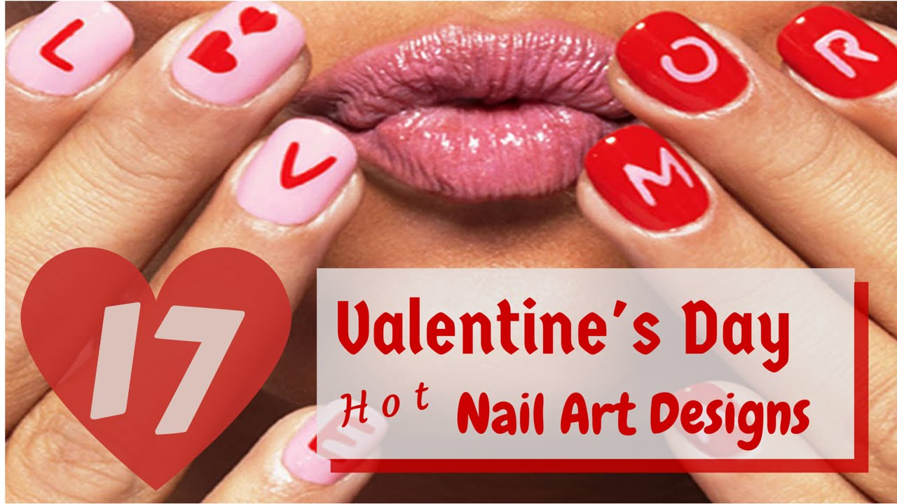 17 Hot Valentine S Day Nail Art Designs 2015 Youtube