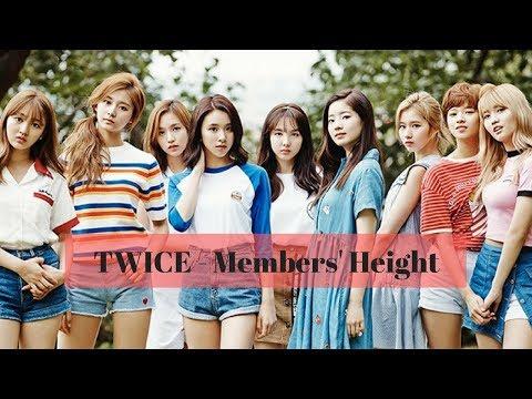 TWICE | Members' Height & Average
