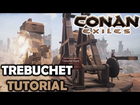 CONAN EXILES How To Use Trebuchets TutorialUpdate 23