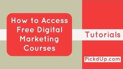 How to Access Free Digital Marketing Courses on PickdUp?