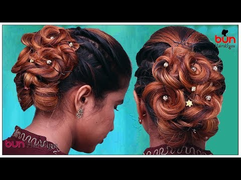 EASY Flower Bun Hairstyle for Girls | Trendy Bun Hairstyles | #Hairstyles