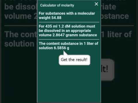 Molarity/molality Calculator - Apps on Google Play