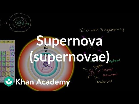 Supernova (supernovae) | Stars, black holes and galaxies | Cosmology & Astronomy | Khan Academy