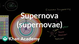 Supernova (supernovae) | Stars, black holes and galaxies | Cosmology & Astronomy | Khan Academy