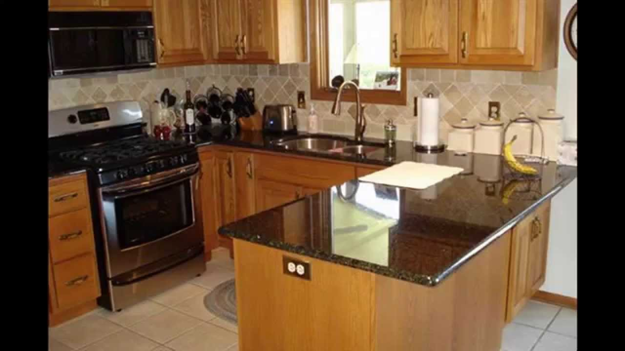 Kitchen granite countertop design ideas - YouTube