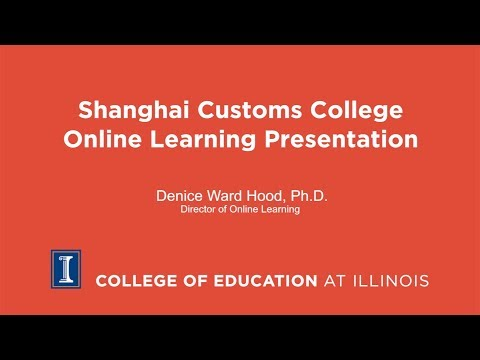 Shanghai Customs College Online Learning Presentation