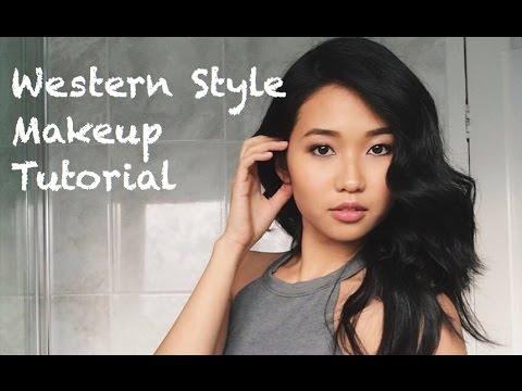 Tutorial: Western Style Makeup   kahfehyen