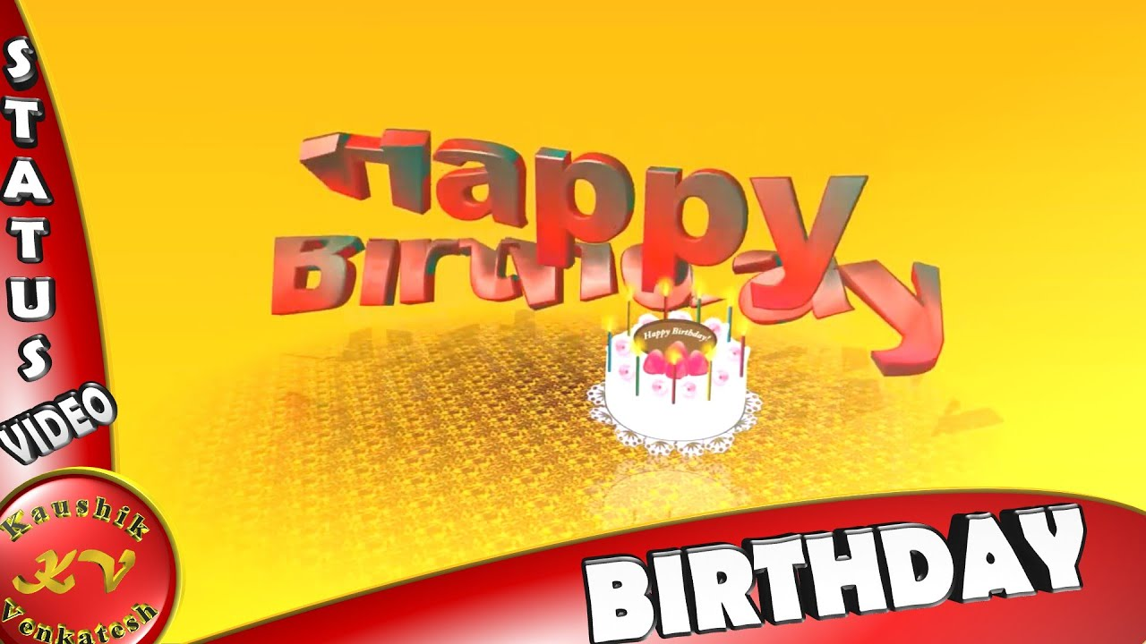 Birthday animation happy birthday video wishes messages whatsapp video
