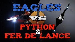 Eagles vs Python & FDL - PvP - Elite Dangerous