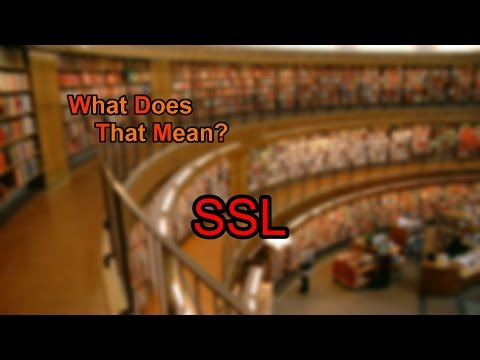 What does SSL mean?