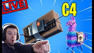 LE C4 = TOP 1 !! LAMA BATTLE ROYALE !  FORTNITE [LIVE FR FACECAM - PC]