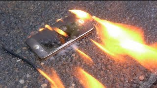 Burning a New iPhone 5 with Gasoline - Will it Survive? thumbnail