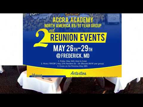 89/91 ACCRA ACADEMY REUNION - MY-STAR RADIO  USA